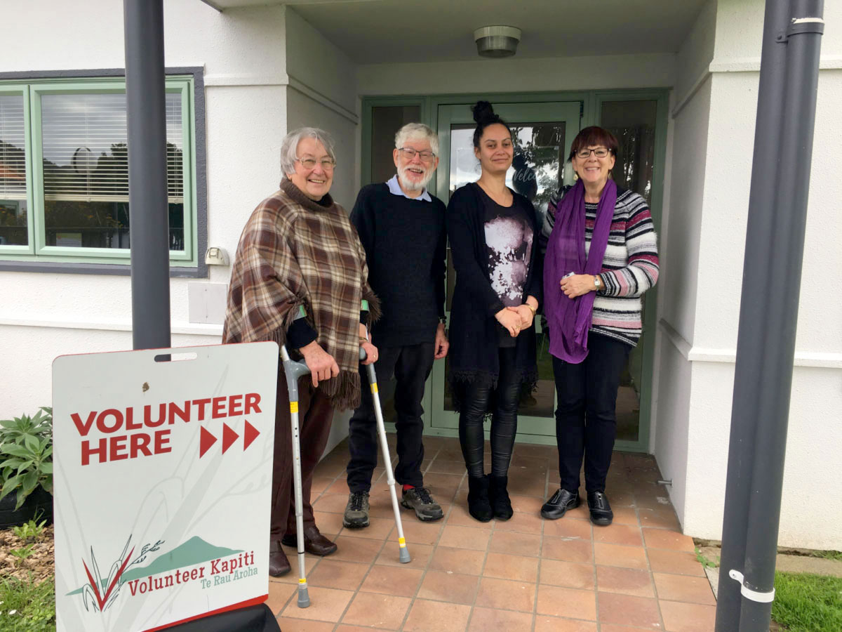 Group at front door of Volunteer Kāpiti